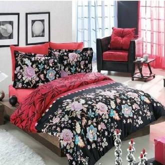 Комплект постельного белья Altinbasak FLORES (Чёрный)