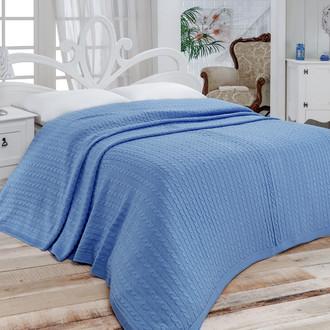 Покрывало вязаное Karna NOVA (голубой)