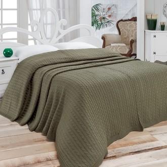 Покрывало вязаное Karna NOVA (зеленый)