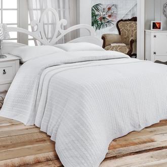 Покрывало вязаное Karna NOVA (белый)
