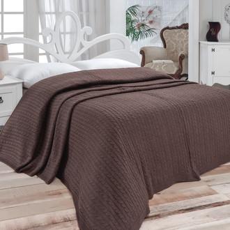 Покрывало вязаное Karna NOVA (коричневый)