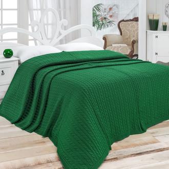 Покрывало вязаное Karna NOVA (тёмно-зелёный)