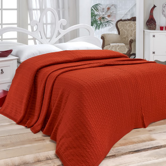 Покрывало вязаное Karna NOVA (бордовый)