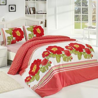 Комплект постельного белья Altinbasak CREAFORCE SIRENA красный