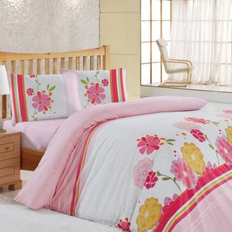 Комплект постельного белья Altinbasak CREAFORCE LILY розовый