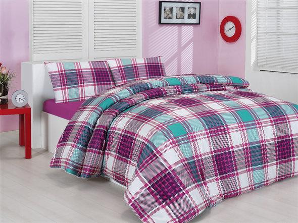Комплект постельного белья Altinbasak CREAFORCE EKOSE розовый (семейный), фото, фотография