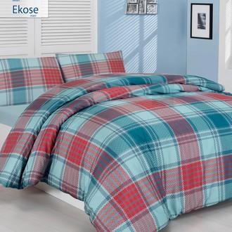 Комплект постельного белья Altinbasak CREAFORCE EKOSE голубой