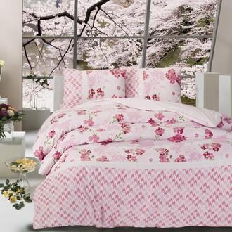 Комплект постельного белья Altinbasak CREAFORCE APRIL розовый