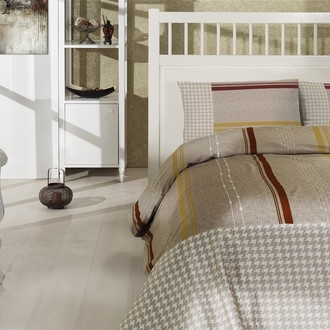Комплект постельного белья Altinbasak CREAFORCE GRIS коричневый