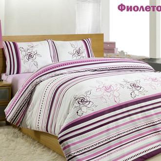 Комплект постельного белья Altinbasak CREAFORCE LINE FLOWER фиолетовый