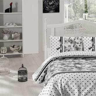 Комплект постельного белья Altinbasak CREAFORCE FULYA чёрный