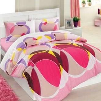 Комплект постельного белья Altinbasak CREAFORCE DECORITE розовый