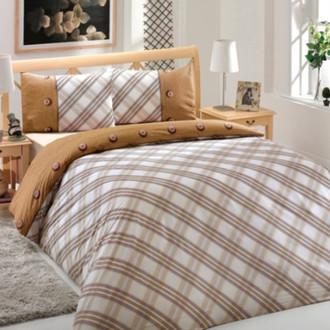 Комплект постельного белья Altinbasak CREAFORCE ENERGY коричневый