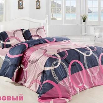Комплект постельного белья Altinbasak CREAFORCE FIORI розовый