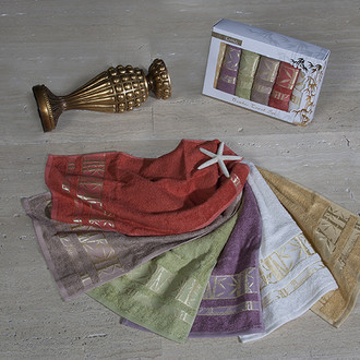 Набор полотенец Karna ZOLOTA 30 х 50 см  6 шт.