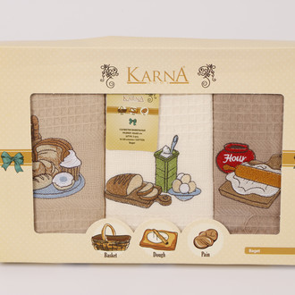 Набор полотенец Karna BAGET 40 х 60 см 3 шт.