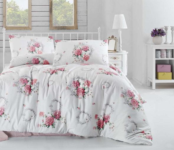Комплект постельного белья Altinbasak CREAFORCE ZAIRA красный евро, фото, фотография