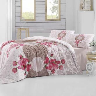 Комплект постельного белья Altinbasak CREAFORCE ROSEN коричневый