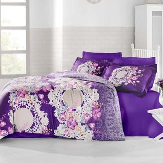Комплект постельного белья Altinbasak ELVIM Сатин фиолетовый