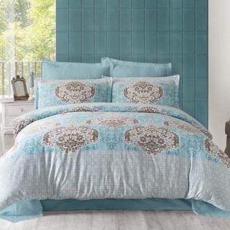 Комплект постельного белья Altinbasak SAYKA Сатин голубой