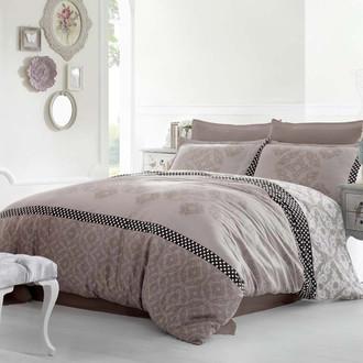 Комплект постельного белья Altinbasak ALONA Сатин коричневый