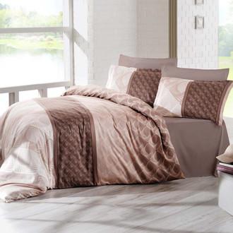 Комплект постельного белья Altinbasak FESTA Сатин коричневый