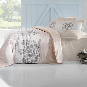 Комплект постельного белья Altinbasak ILMA Сатин кремовый