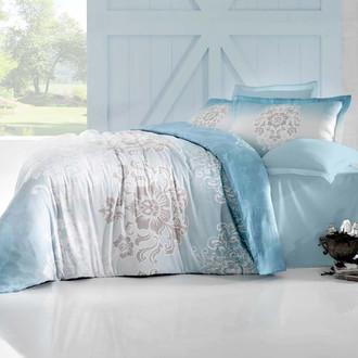 Комплект постельного белья Altinbasak ILMA Сатин голубой