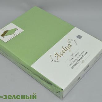 Простыня трикотажная на резинке Acelya тёмно-зелёный