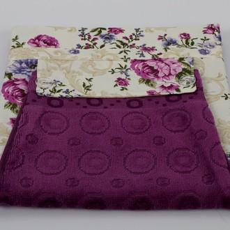 Фартук Karna с полотенцем фиолетовый