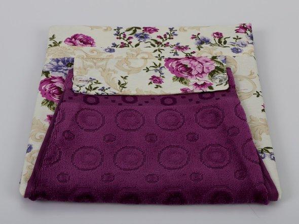 Фартук Karna с полотенцем фиолетовый, фото, фотография