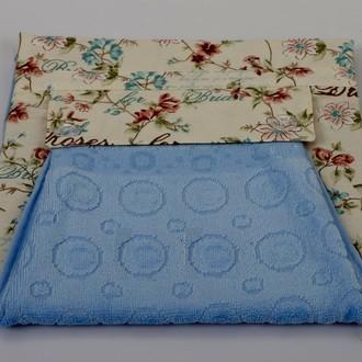 Фартук Karna с полотенцем голубой