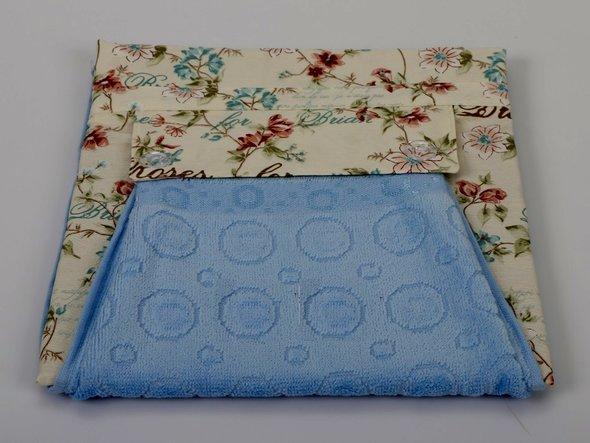 Фартук Karna с полотенцем голубой, фото, фотография