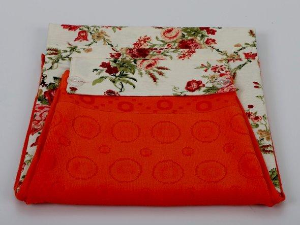 Фартук Karna с полотенцем оранжевый, фото, фотография
