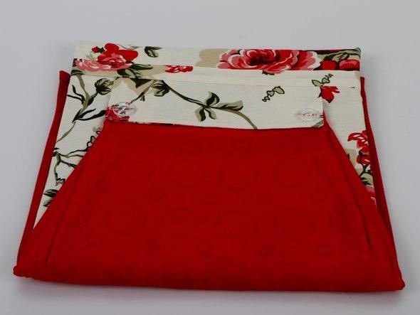 Фартук Karna с полотенцем красный, фото, фотография