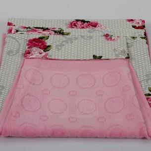 Фартук Karna с полотенцем розовый