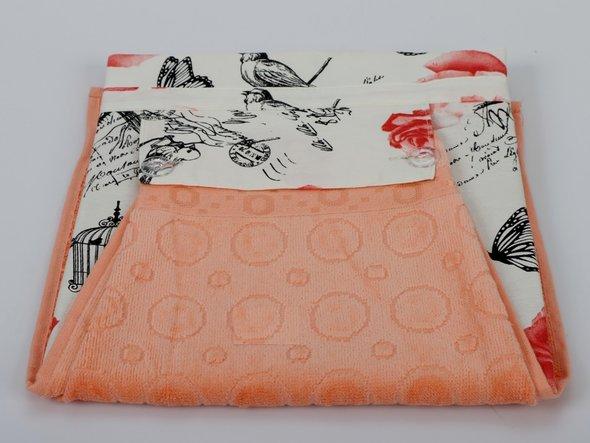 Фартук Karna с полотенцем абрикосовый, фото, фотография