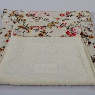 Фартук Karna с полотенцем кремовый