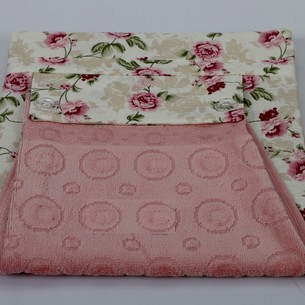 Фартук Karna с полотенцем грязно-розовый