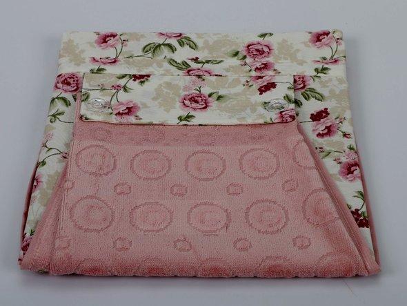 Фартук Karna с полотенцем грязно-розовый, фото, фотография