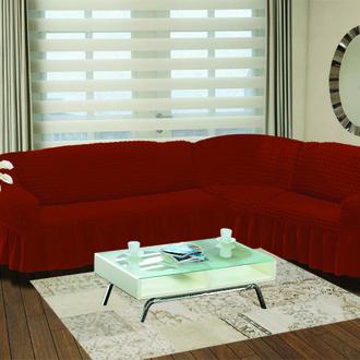 Чехол на диван угловой правосторонний 2+3 Bulsan кирпичный