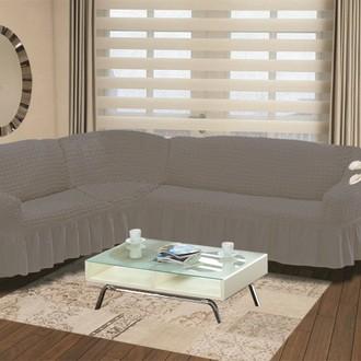 Чехол на диван угловой левосторонний 2+3 Bulsan серый