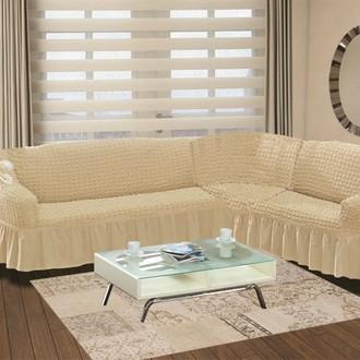 Чехол на диван угловой левосторонний 2+3 Bulsan натурал