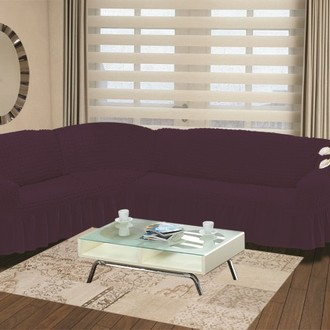 Чехол на диван угловой левосторонний 2+3 Bulsan фиолетовый