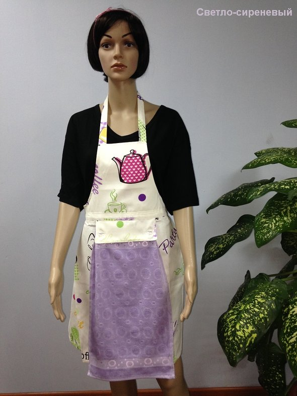 Фартук Karna с полотенцем светло-сиреневый, фото, фотография