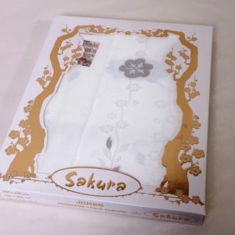 Скатерть Verolli SAKURA 160х220 серебряный