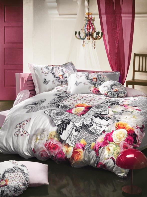 Комплект постельного белья Mama Quilts FLORA ROSA Евро, фото, фотография