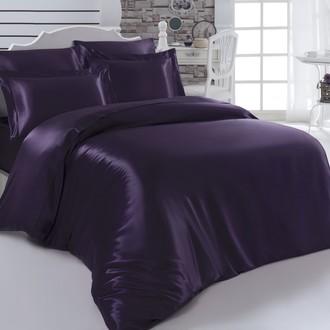 Комплект постельного белья Karna ARIN искусственный шёлк (фиолетовый)