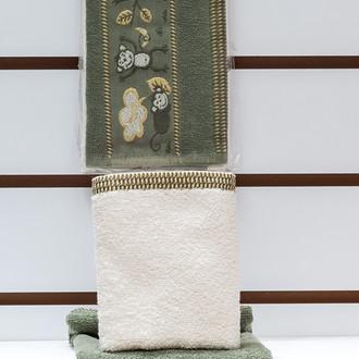 Набор полотенец Karna BUNGO 30х50(2) зелёный