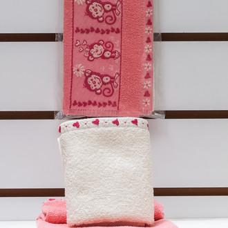 Набор полотенец Karna HOLA 30х50(2) розовый